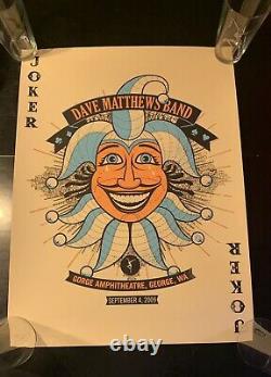 Dave Matthews Band Poster Gorge WA 9/4/2009 Numbered #975/1100