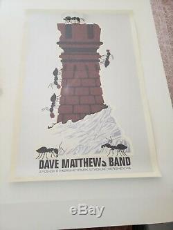 Dave Matthews Band Poster Hershey, Pa 7.9.2010