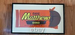 Dave Matthews Band Poster Hershey Park 50/1,150 Reeses Custom Framed 7/24/2009