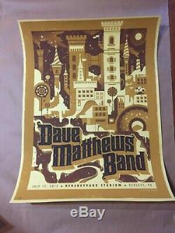 Dave Matthews Band Poster Hershey Park Hershey Pa 7/13/13 Rare