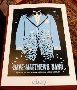 Dave Matthews Band Poster Hollywood Bowl October 2007 Los Angeles, California