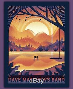 Dave Matthews Band Poster Jiffy Lube Live 07/20/19 Bristow, Virginia VA DKNG