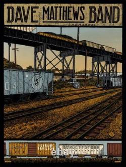 Dave Matthews Band Poster KeyBank Pavilion Burgettstown, PA 6/1/18