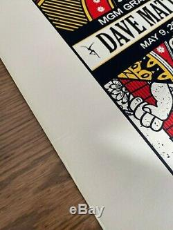 Dave Matthews Band Poster Las Vegas Jack of Spades