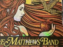 Dave Matthews Band Poster MSG 11/30/18 Drive In 2020 Slater FOIL x/250 In Hand