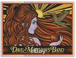 Dave Matthews Band Poster MSG 11/30/18 Drive In 2020 Todd Slater FOIL x/250