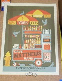 Dave Matthews Band Poster Madison Square Garden New York 20/650 Signed MINT