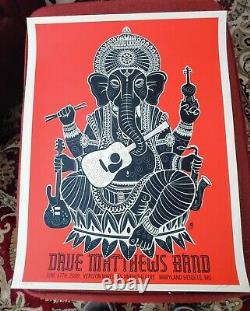 Dave Matthews Band Poster Maryland Heights Missouri June 17th 2009 Signed And
