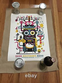 Dave Matthews Band Poster Maryland Heights Mo Rare Tiki 7/11/12