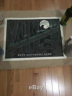 Dave Matthews Band Poster Mountain View Ca Rare 9/9/12