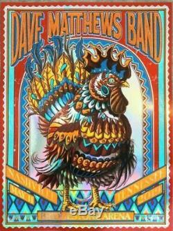 Dave Matthews Band Poster Nashville TN 5/11 2019 Bioworkz Foil Variant XX/50