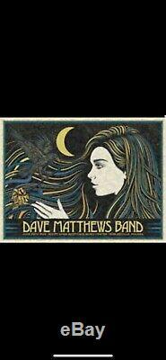 Dave Matthews Band Poster Noblesville IN 6/29/19 Todd Slater Deer Creek N2
