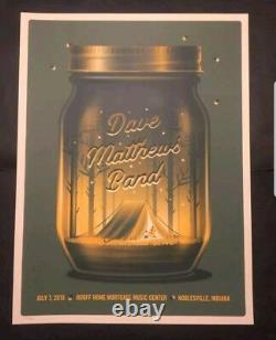Dave Matthews Band Poster Noblesville Jar 2018 Deer Creek N2 DKNG MINT SOLD OUT