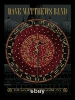 Dave Matthews Band Poster Padova Italy 2010 Signed & Numbered #400