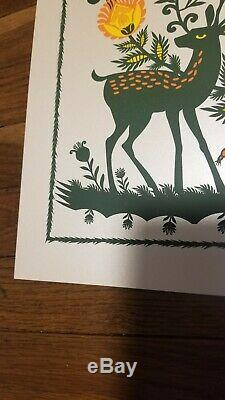 Dave Matthews Band Poster Pearlescent Variant SPAC 2016 Methane Signed #edMINT