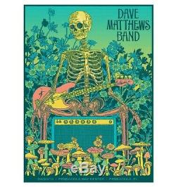 Dave Matthews Band Poster Pensacola FL 2019 Summer Tour Methane Studios Sold out