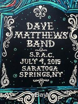 Dave Matthews Band Poster SPAC July 4, 2015