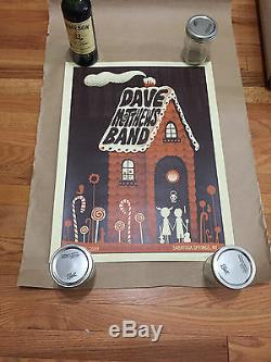 Dave Matthews Band Poster Saratoga Springs Ny 6/12/09 Rare Gingerbread House