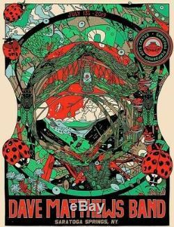 Dave Matthews Band Poster Saratoga Springs SPAC N2 7/13/19 Tyler Stout