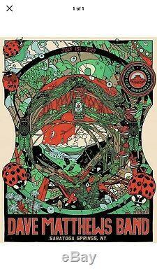 Dave Matthews Band Poster Saratoga Springs SPAC N2 7/13/19 Tyler StoutMINT