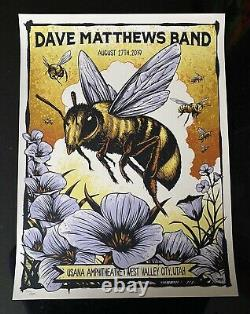 Dave Matthews Band Poster Show Edition SE West Valley City, Utah 2018