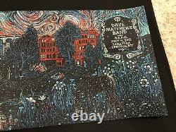 Dave Matthews Band Poster Signed/#80 AP July 4th, 2015 EADS Saratoga Springs NY