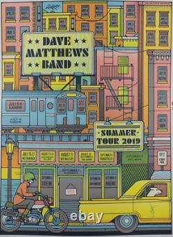 Dave Matthews Band Poster Summer Tour 2019 Yellow Variant