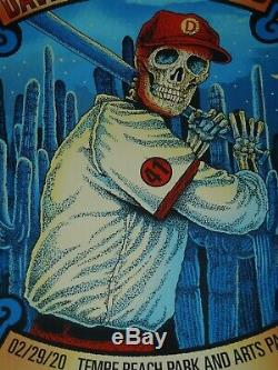 Dave Matthews Band Poster Tempe Arizona Innings Fest Methane Studios 2/29 2020