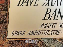 Dave Matthews Band Poster, The Gorge 08.30.2013 George, Washington