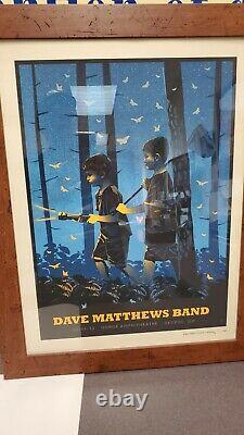 Dave Matthews Band Poster The Gorge 9/1/2013 Fireflies Mint Methane