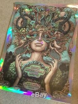 Dave Matthews Band Poster The Woodlands, TX 5/17/19 Serene Rainbow Foil Variant