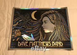 Dave Matthews Band Poster Todd Slater Deer Creek Noblesville MIRROR FOIL VARIANT