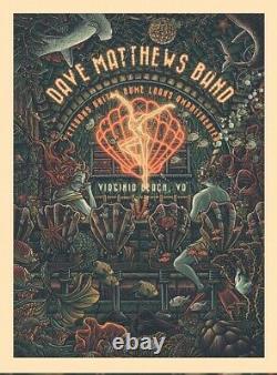 Dave Matthews Band Poster Virginia Beach 8/28/21