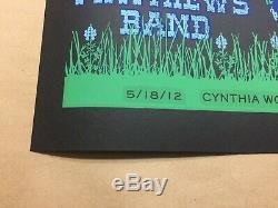 Dave Matthews Band Poster Woodland Texas Cow 5/18/2012 Rare