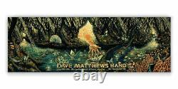 Dave Matthews Band Poster Woodlands James Eads Signed Cynthia Woods Mitchell DMB