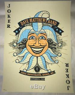 Dave Matthews Band RARE Poster'JOKER GEORGE' Gorge N1 2009