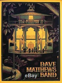 Dave Matthews Band Rare Ap Autograph Concert Poster Charlotte 2019 37/50