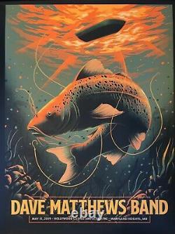 Dave Matthews Band Rare Ap Autographed Concert Poster Missouri 2019