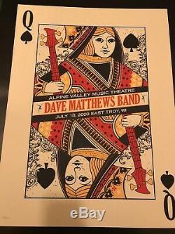 Dave Matthews Band Show Poster Alpine Valley 7/18/09