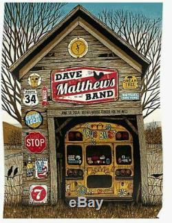 Dave Matthews Band Sold Out Poster Bethel Woods NY 6-19-19 #21/650 DMB 2019