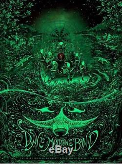 Dave Matthews Band Tampa Tsang GID Dawn Variant Poster 2016 Glows Dark Print /70