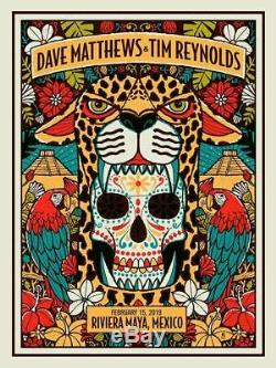 Dave Matthews Band Tim Reynold Riviera Maya Mexica Poster N1 2/15/2019