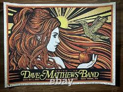 Dave Matthews Band Todd Slater Drive In Art Print Poster 11/30/2018 MSG NY