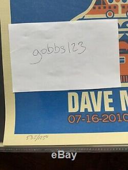 Dave Matthews Band Tour Poster Citi Field, New York 07/16/10 #535/1250