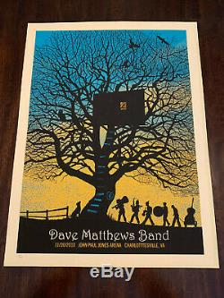Dave Matthews Band Tree House & Weather vane 2010 Charlottesville Posters Rare