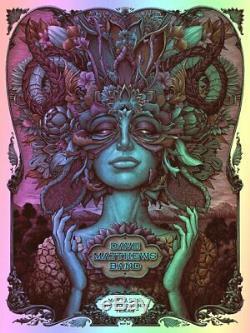 Dave Matthews Band VIVID FOIL VARIANT Print Poster Woodlands TX N. C. Winters