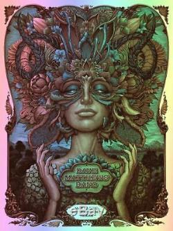 Dave Matthews Band Woodlands TX 5/17/19 SERENE FOIL Varient Poster NC Winters