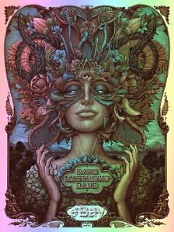 Dave Matthews Band Woodlands TX SERENE FOIL VAR Poster S/N AP #/60 NC Winters