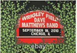 Dave Matthews Band Wrigley Field poster with 2(two) laminated GUEST passes