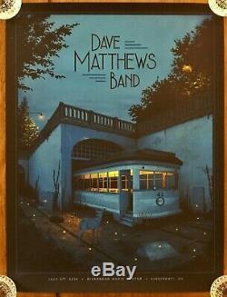 Dave Matthews Band poster 7/2/19, Riverbend Pavilion, #ed